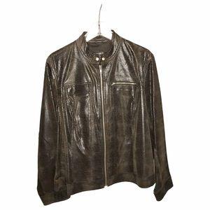 I.E Designed brown leather jacket XL